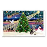 Xmas Magic & Chihuahua Sticker (Rectangle 50 pk)