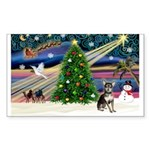 Xmas Magic & Chihuahua Sticker (Rectangle 10 pk)