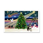 Xmas Magic & Chihuahua Rectangle Car Magnet