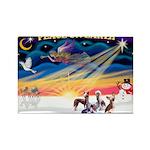 XmasSunrise/4 Cresteds Rectangle Magnet (10 pack)