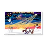 XmasSunrise/4 Cresteds Rectangle Car Magnet