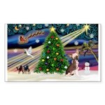 XmasMagic/Crested (#1) Sticker (Rectangle 10 pk)