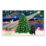 XmasMagic/ Shar Pei Sticker (Rectangle 50 pk)