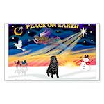 XmasSunrise/Shar Pei Sticker (Rectangle 50 pk)