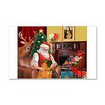 Santa's Shar Pei Car Magnet 20 x 12