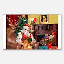 Santa's Shar Pei Decal