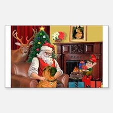 Santa's Shar Pei Sticker (Rectangle)