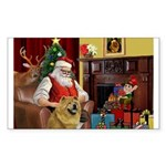 Santa's Chow Chow Sticker (Rectangle 10 pk)