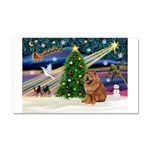 Xmas Magic & Chow Car Magnet 20 x 12