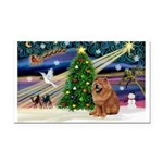 Xmas Magic & Chow Rectangle Car Magnet