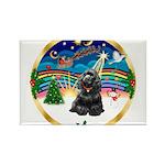 XmasMusic r (blk) #13/Cocker Rectangle Magnet (10
