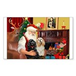 Santa's 2 Cockers Sticker (Rectangle 50 pk)