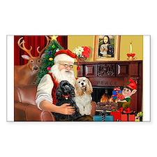 Santa's 2 Cockers Decal