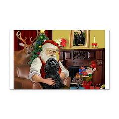 Santa's Black Cocker Rectangle Car Magnet