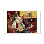 Santa's Buff Cocker Car Magnet 20 x 12
