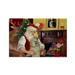 Santa's Buff Cocker Rectangle Magnet (10 pack)
