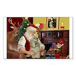 Santa's Buff Cocker Sticker (Rectangle 50 pk)