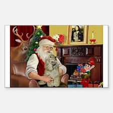 Santa's Buff Cocker Decal