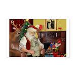 Santa's Buff Cocker Rectangle Car Magnet