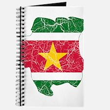 Suriname Flag And Map Journal