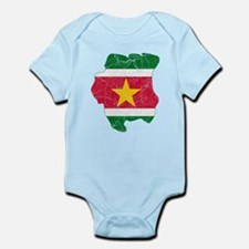 Suriname Flag And Map Onesie