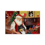 Santa's Collie (t) Rectangle Magnet (10 pack)