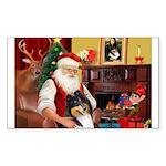 Santa's Collie (t) Sticker (Rectangle 50 pk)