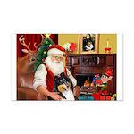 Santa's Collie (t) Rectangle Car Magnet