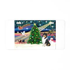 Xmas Magic & Collie Aluminum License Plate