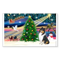 Xmas Magic & Collie Decal