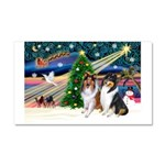 Xmas Magic & Collie Car Magnet 20 x 12