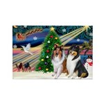 Xmas Magic & Collie Rectangle Magnet