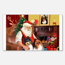Santa's Collie pair Decal
