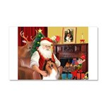 Santa's Collie Car Magnet 20 x 12