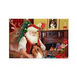 Santa's Collie Rectangle Magnet (10 pack)
