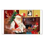 Santa's Coton Sticker (Rectangle)