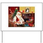 Santa's Coton Yard Sign