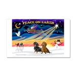 XmasSunrise/2 Dachshunds Car Magnet 20 x 12