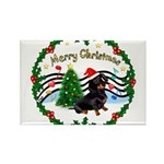 XmasMusic1/Dachshund #17 Rectangle Magnet (10 pack