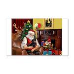 Santa's Dachshund (BT) Car Magnet 20 x 12