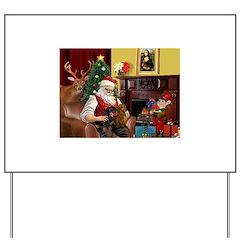 Santa/Two Dachshunds (BB) Yard Sign