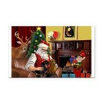 Santa/Two Dachshunds (BB) Rectangle Car Magnet