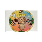 XmasMusic2/Dachshund (WH)#11 Rectangle Magnet (10