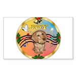 XmasMusic2/Dachshund (WH)#11 Sticker (Rectangle 10