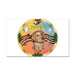 XmasMusic2/Dachshund (WH)#11 Rectangle Car Magnet