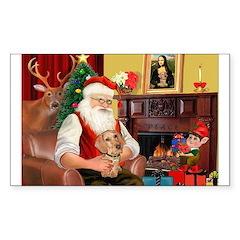 Santa's Dachshund (WH) Decal