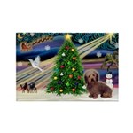 XmasMagic/Dachshund (WH) Rectangle Magnet (10 pack