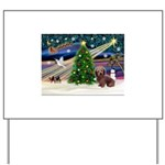 XmasMagic/Dachshund (WH) Yard Sign