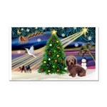 XmasMagic/Dachshund (WH) Rectangle Car Magnet