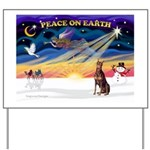 XmasSunrise/Dobie (red) Yard Sign